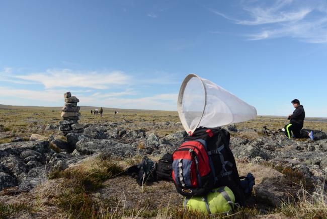 Petite pause en route vers la rivière Pivurnituq, dans le parc national des Pingualuit