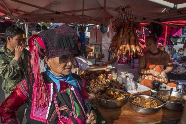 At the Abang Market
