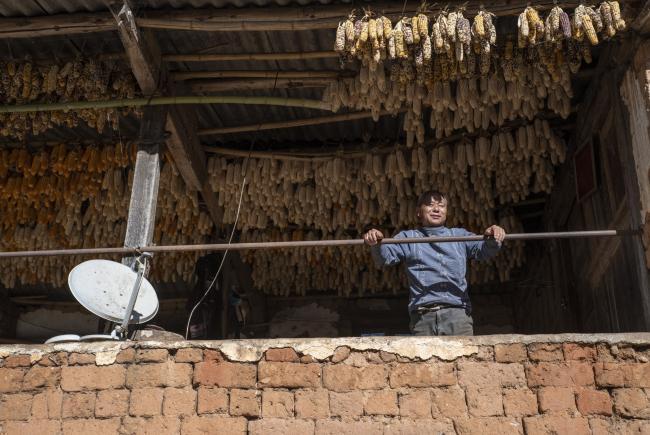 M. Chen et ses réserves de maïs qui serviront à produire du baijiu