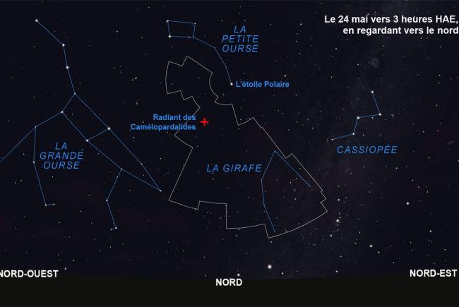Carte du radiant des Camélopardalides
