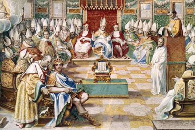 Ouverture du Concile de Nicée (325) par l'Empereur Constantin 1er le Grand