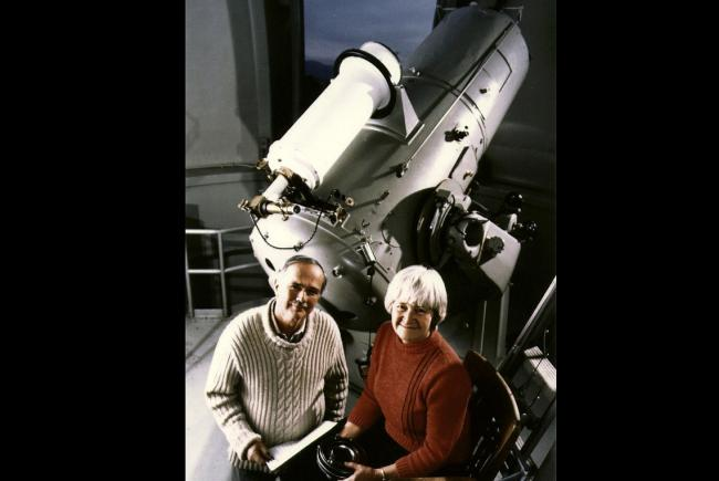Eugene and Carolyn Shoemaker at the Palomar Observatory