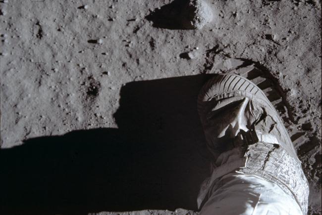 Empreinte de pas et de Buzz Aldrin