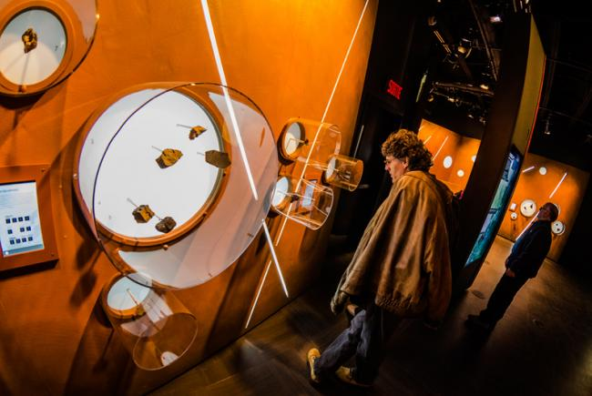 Meteorite exhibition at the Planétarium Rio Tinto Alcan