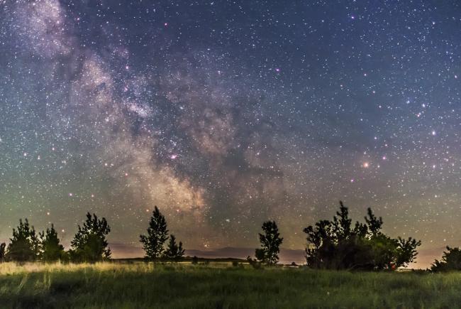 Centre de la galaxie à l'horizon © Alan Dyer 2013