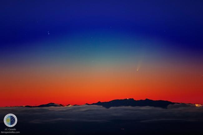 Comète Ison © J.C. Casado, tierrayestrellas.com, iac.es