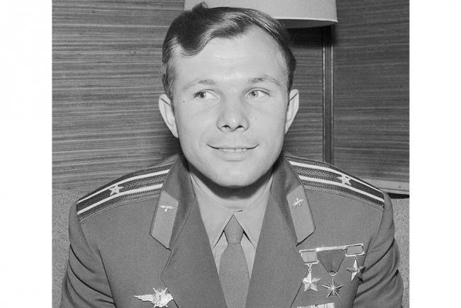 Youri Gagarine en juillet 1961.