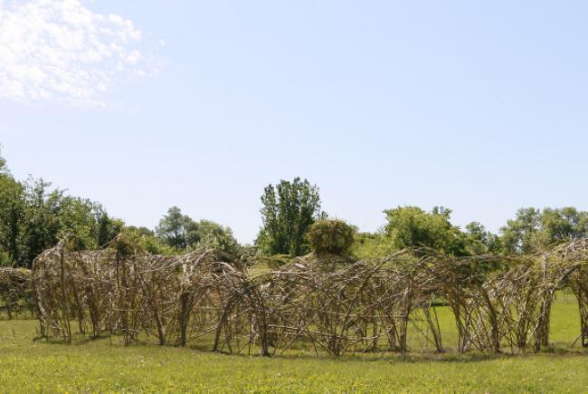 """Monumental Dougherty – préparation du site pour l'œuvre collective """"Dédale étonnant"""""""