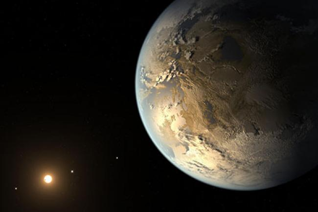 Artist's view of the exoplanet Kepler-186f
