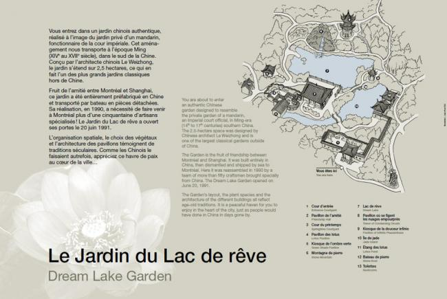New interpretation panel - Chinese Garden