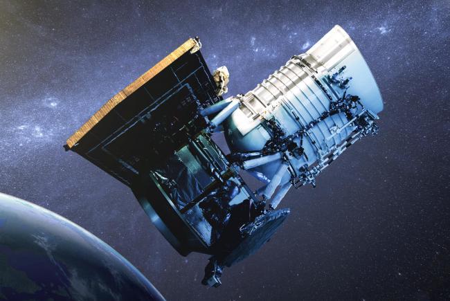 Une vue d'artiste du télescope WISE.