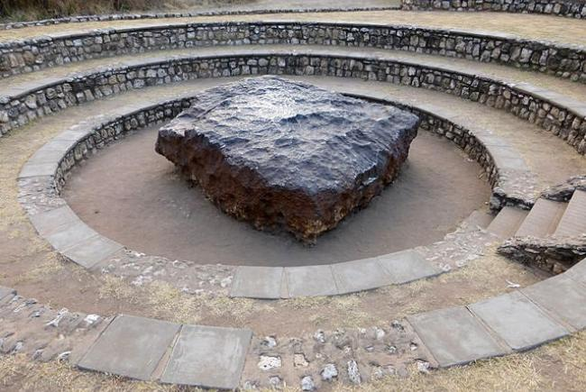 Site protégé de la météorite Hoba en Namibie.