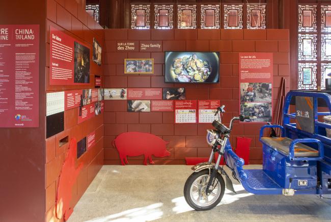 Photo de l'exposition au Jardin de Chine