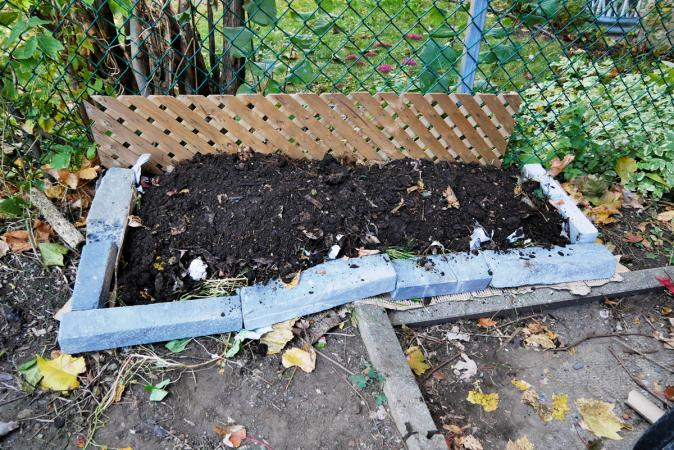 A layer of compost, and it's ready!