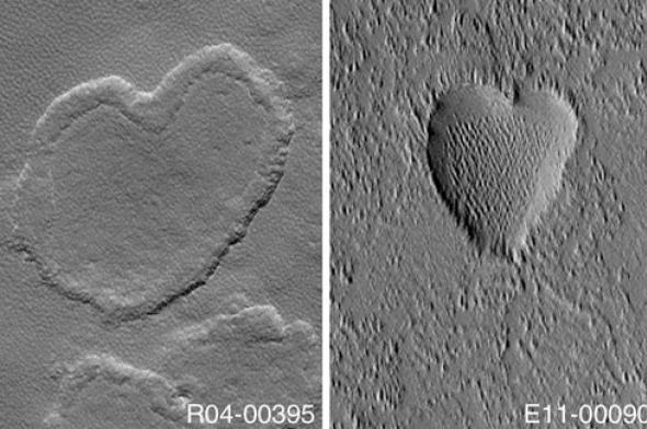 Des cœurs sur Mars © Photo : NASA/JPL/MSSS