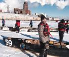 Équipe de canot à glace Espace pour la vie
