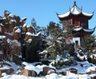 Jardin de Chine en hiver © Jardin botanique de Montréal (Michel Tremblay)