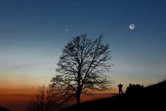 Saturne, Vénus, Mercure et la Lune © Stefan Seip/TWAN