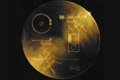 Couvercle du disque d'or de Voyager