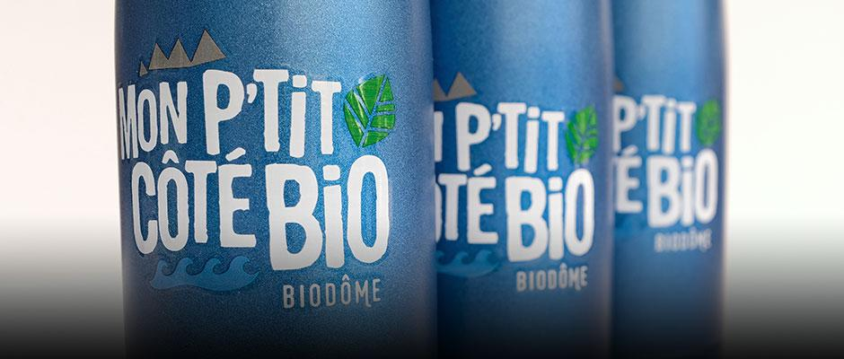 Reusable bottles on sale in the Space for Life gift shops.