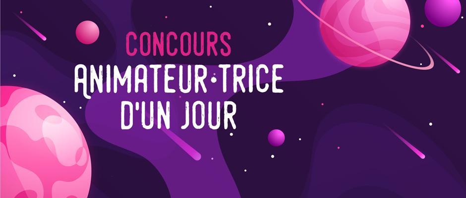 Carrousel - Concours « Animateur et Animatrice d'un jour »