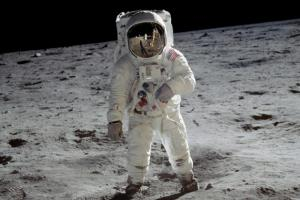 First steps of a man on the Moon