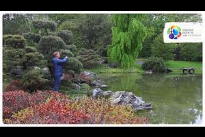 Portrait of a horticulturist from the Japanese Garden at the Jardin botanique de Montréal
