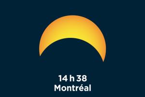 Éclipse solaire 21 août 2017 - maximum à Montréal