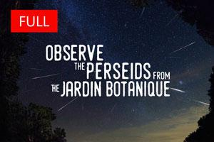 Observe the Perseids from the Jardin botanique