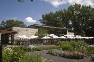 Terrace of the Botanical Garden Restaurant as seen from the Perrennial Garden.