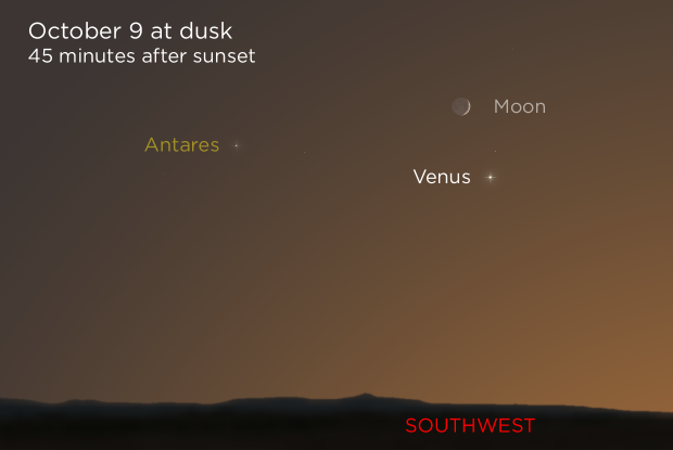 20211009 Crescent Moon and Venus