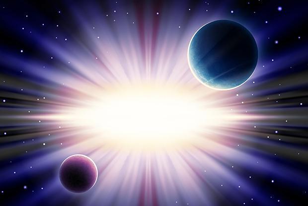 Planètes dans l'espace