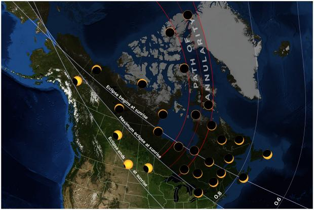 20210610 eclipse map Canada