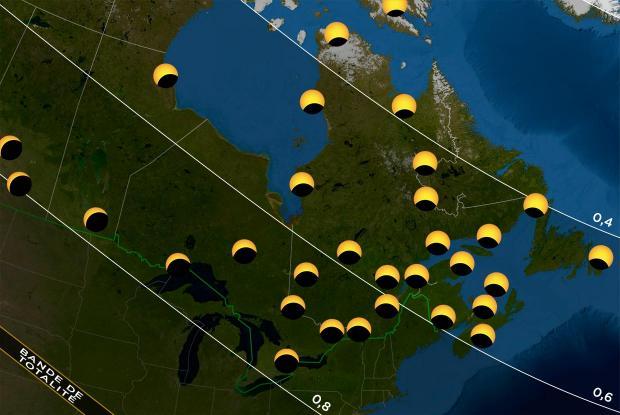 Carte éclipse 20170821 Québec Canada