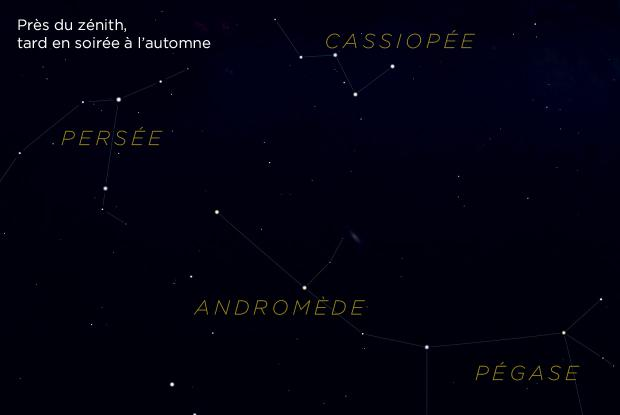 M31 et Cassiopée (carte de repérage)