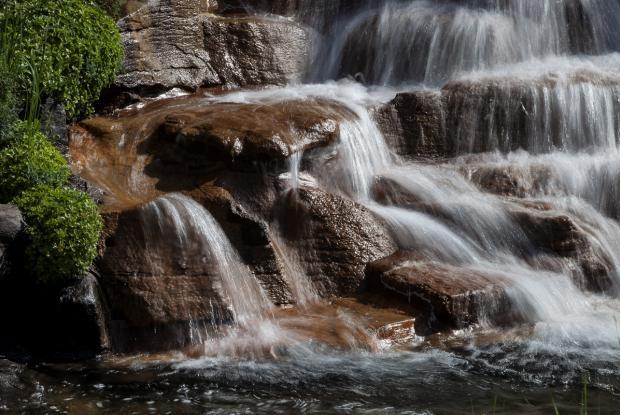 Waterfall in the Alpine garden