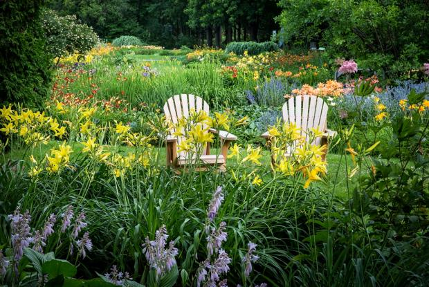 General view of the Flowery Brook with Adirondack chairs