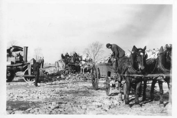 Construction du Jardin alpin, 1936