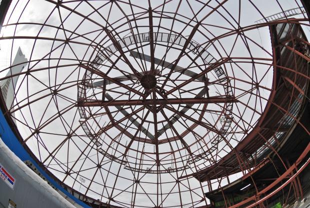 Planétarium Rio Tinto Alcan en construction.