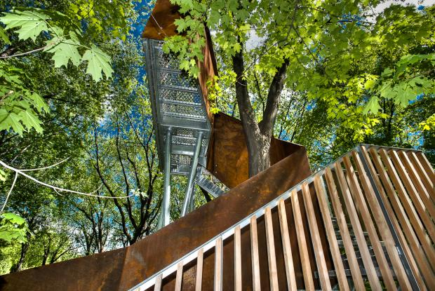 Module du parcours d'interprétation dans l'Arboretum