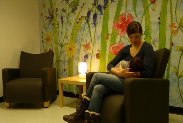 Salle d'allaitement au Jardin botanique