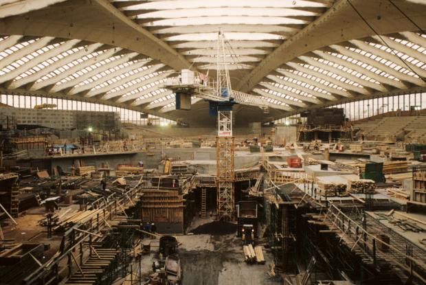 Construction du Biodôme.