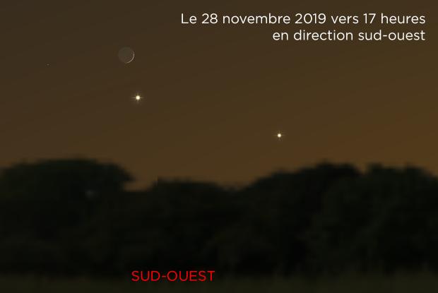 La Lune, Vénus et Jupiter 20191128