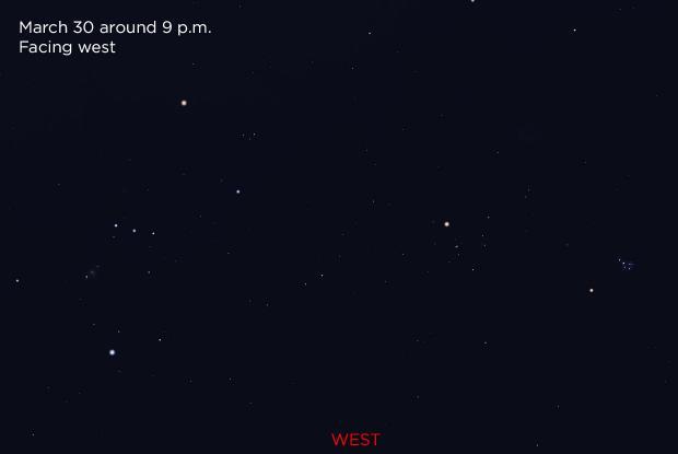 Mars Pleiades and Hyades 20190330