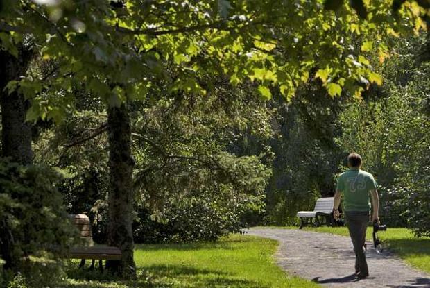 Marcheur au Jardin botanique