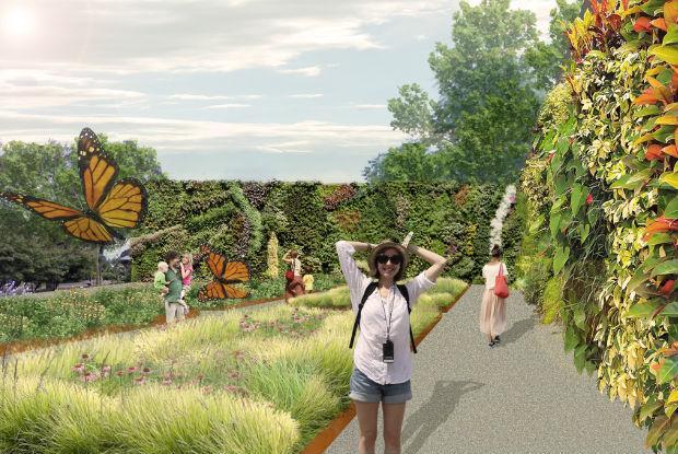 Parcours des phytotechnologies - Le mur végétal