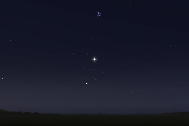 Venus between the Hyades and Pleiades 20170710