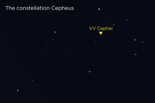 VV Cephei finding chart