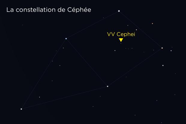 VV Cephei carte de localisation