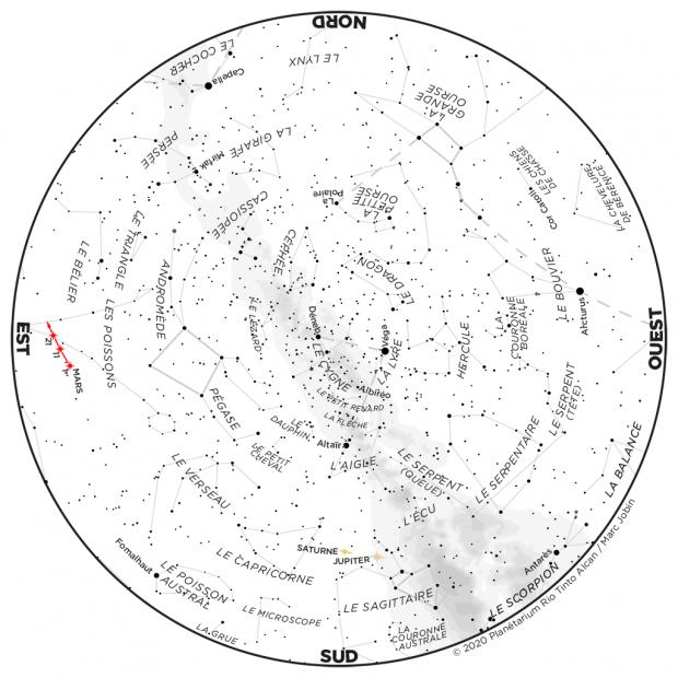 Ciel du mois - carte août 2020